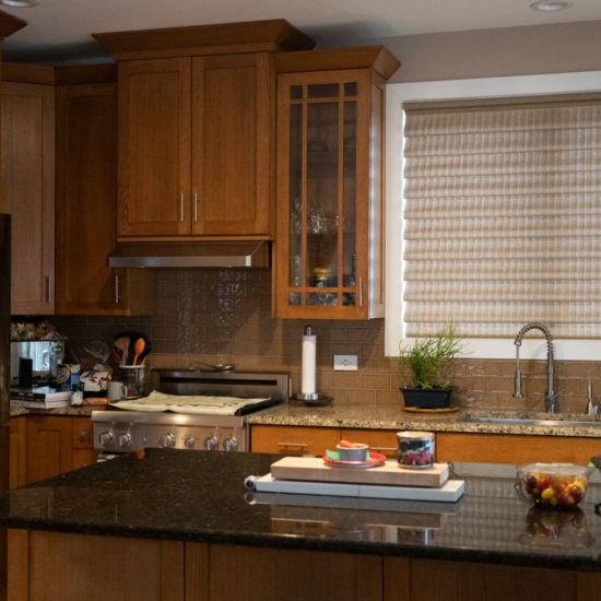 Vignette® Stacking with PowerView® Motorization Top-Down/Bottom-Up