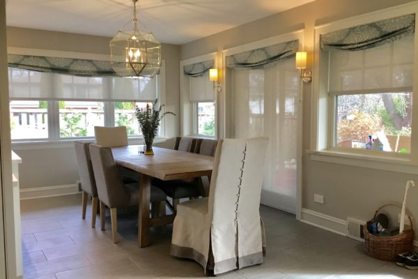 Designer Screen Shades with Custom Valances