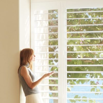 Palm Beach™ Shutters with PowerView® Motorization