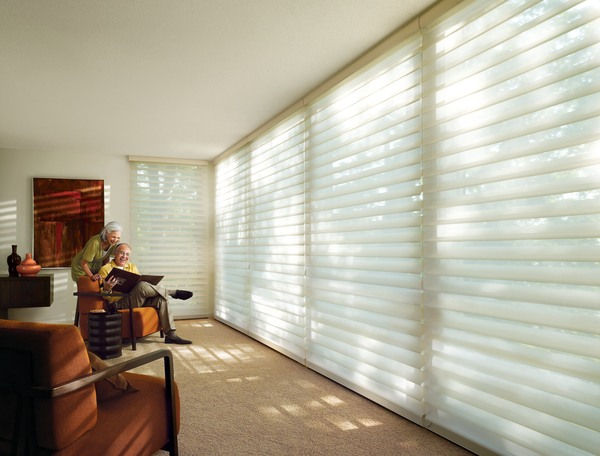 Silhouette® window shadings for 2008 Quartette Family Room