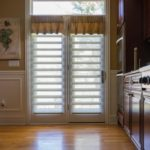 Kitchen Pirouettes® with PowerView® Motorization and Custom Valances in Wayne