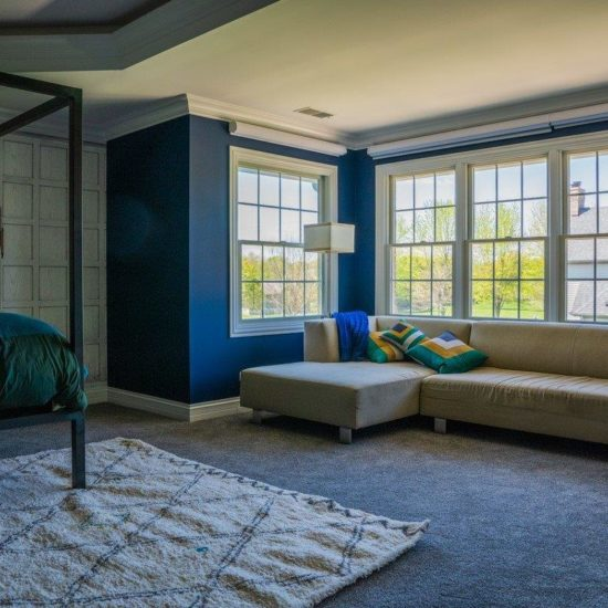 Vignette® Duolite® Modern Roman Shades in Northwest Suburbs Master Bedroom