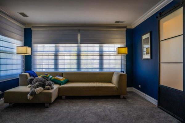 Vignette® Doulite® Roman Shades in Northwest Suburbs Master Bedroom