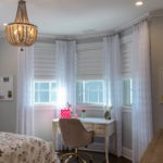Vignette® Modern Roman Shades with PowerView® Motorization Top Down Bottom Up Sheer Drapery Panels 2