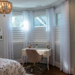 Vignette® Modern Roman Shades with PowerView® Motorization Top Down Bottom Up Sheer Drapery Panels 3