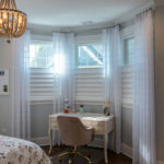 Vignette® Modern Roman Shades with PowerView® Motorization Top Down Bottom Up Sheer Drapery Panels 4