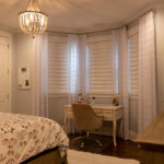 Vignette® Modern Roman Shades with PowerView® Motorization Top Down Bottom Up Sheer Drapery Panels 6