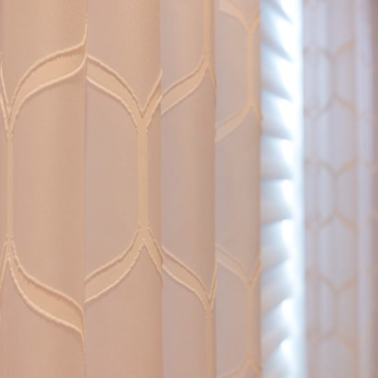 Vignette® Modern Roman Shades with PowerView® Motorization Top Down Bottom Up Sheer Drapery Panels