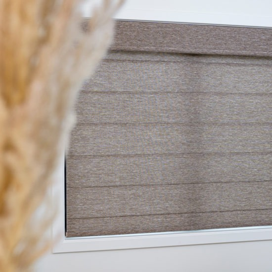 Alustra® Modern Roman Shades with PowerView® Motorization Top Down Bottom Up