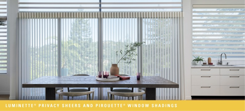 Luminette® Privacy Sheers and Pirouette® Window Shadings